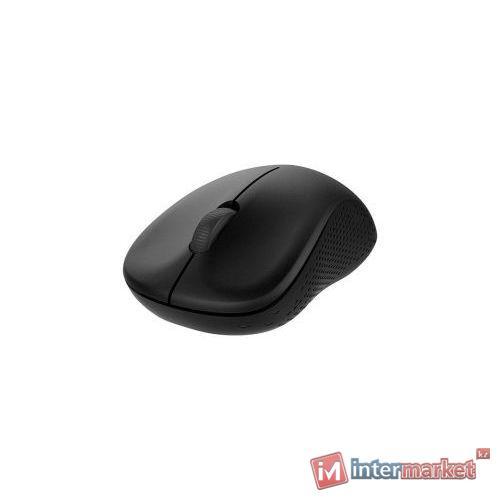 Компьютерная мышь, Rapoo, M160 Silent, Оптическая, 1300dpi, Беспроводной, 2.4 Ггц., Bluetooth 3.0/4.0, Эффективная дистанция 10 м., Батарейки в комплекте, Черный