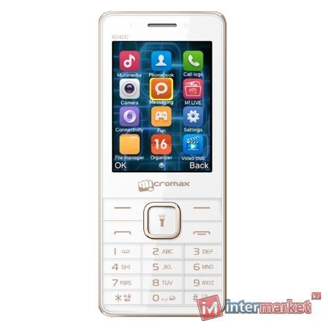 Мобильный телефон Micromax X2420 White Champagne